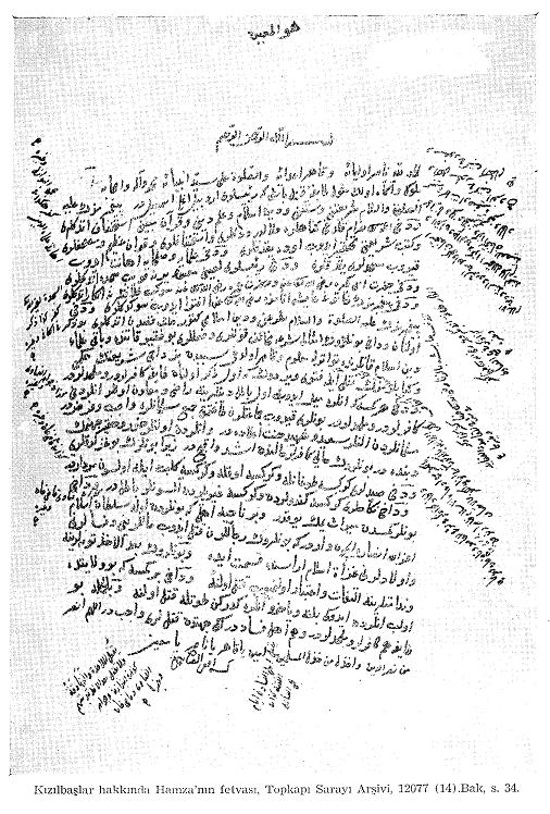 Yavuz Sultan Selim'in İran Seferi İçin Aldığı Fetvanın Vesikası06