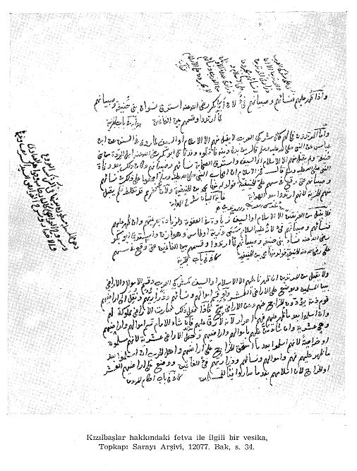 Yavuz Sultan Selim'in İran Seferi İçin Aldığı Fetvanın Vesikası07
